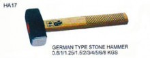 GERMAN TYPE STONE HAMMER 0.8/1/1.25/1.5/2/3/4/5/6/8 KGS